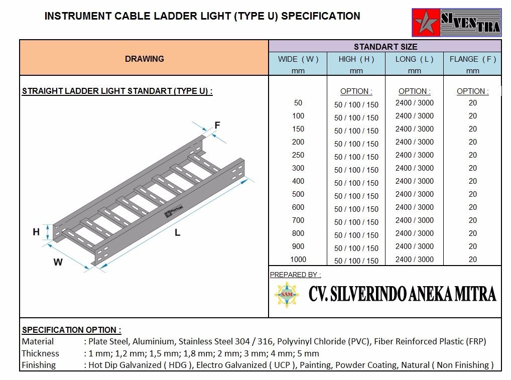 instrumentcableladderlighttypeu