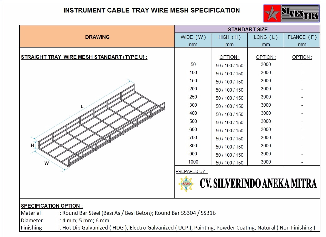 instrument cable tray wire mesh
